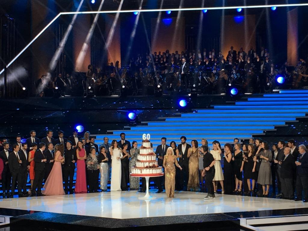 Raffaella Carra. Gala TVE 60 años.